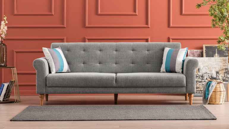 Madona Sofa Bed - Gray - Decorotika