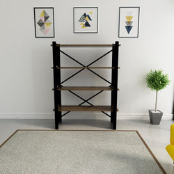 "Amado 59"" Tall Metal Wood Bookcase - Decorotika"