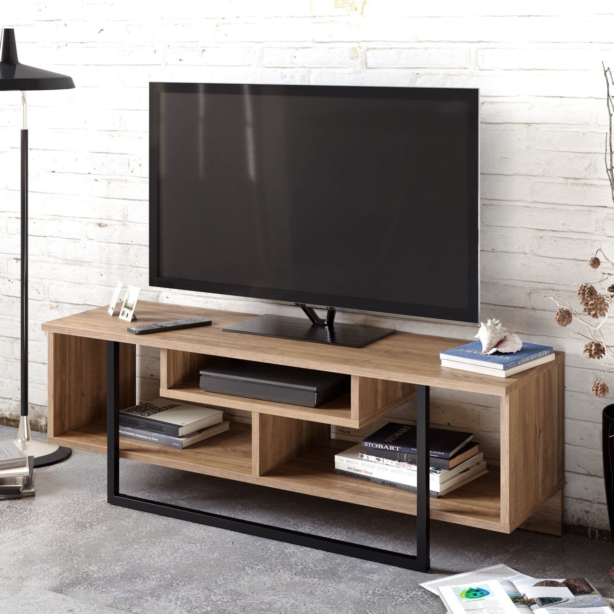 Asal 47'' Wide Metal Wood TV Stand & Media Console for TVs up to 55