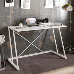 Anemon 47'' Wide Computer Desk with Crossbar Metal Frame - Decorotika