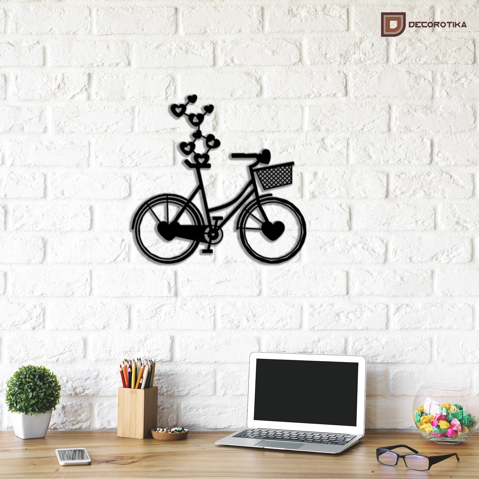 Bicycle Handmade Metal Decorative Wall Art - Decorotika