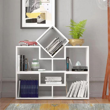 Cubes 30'' Tall Geometric Bookcase - Decorotika