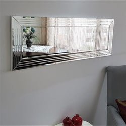 Neo 47'' Decorative Tempered Glass Mirror with Modern Frame - Decorotika