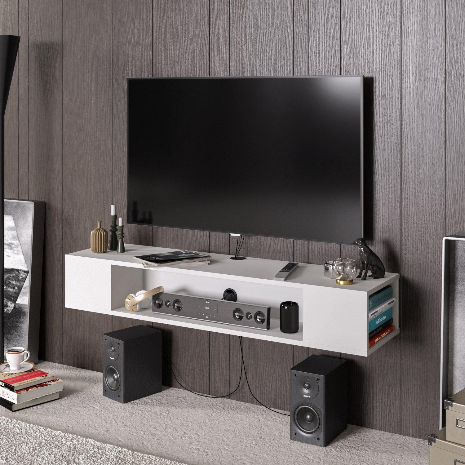 Peti Floating, Wall Mounted TV Stand & Media Console for TVs up to 61'' - Decorotika