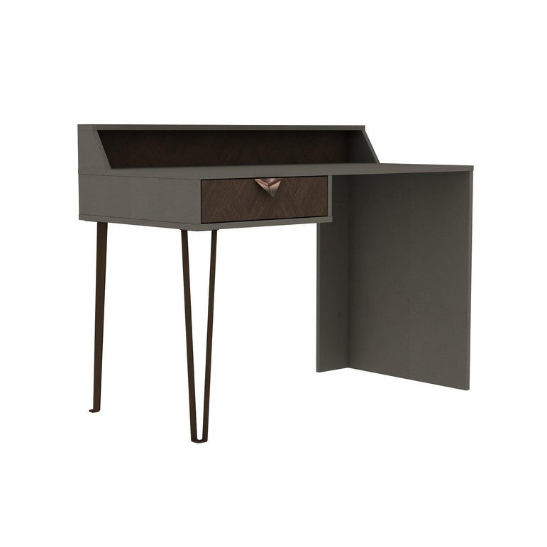 "Linea 47"" Wide Metal Wood Computer Desk - Decorotika"