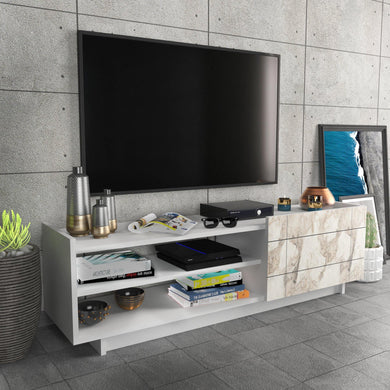 "Valantina 55"" Wide TV Stand & Media Console with A Cabinet & Shelves for TVs up to 63"