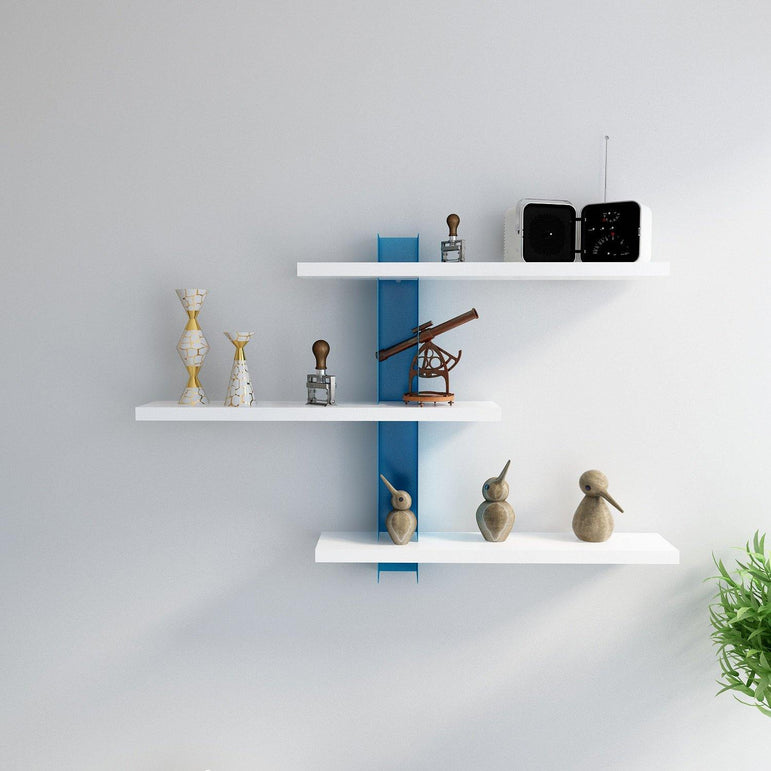 Mita 19'' Adjustable Metal Wood Wall Shelf - Decorotika