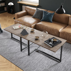 Merideths Metal Wood Coffee Table - Decorotika
