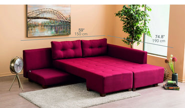 Manama Right-Hand / Left-Hand Corner Sofa Bed - Decorotika