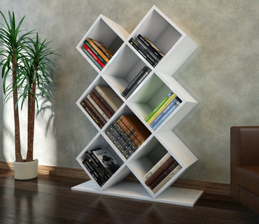 Beach 50'' Tall Accent Bookcase - Decorotika