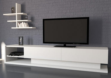 "Liza 71"" TV Stand & Media Console with Wall Shelf - Decorotika"