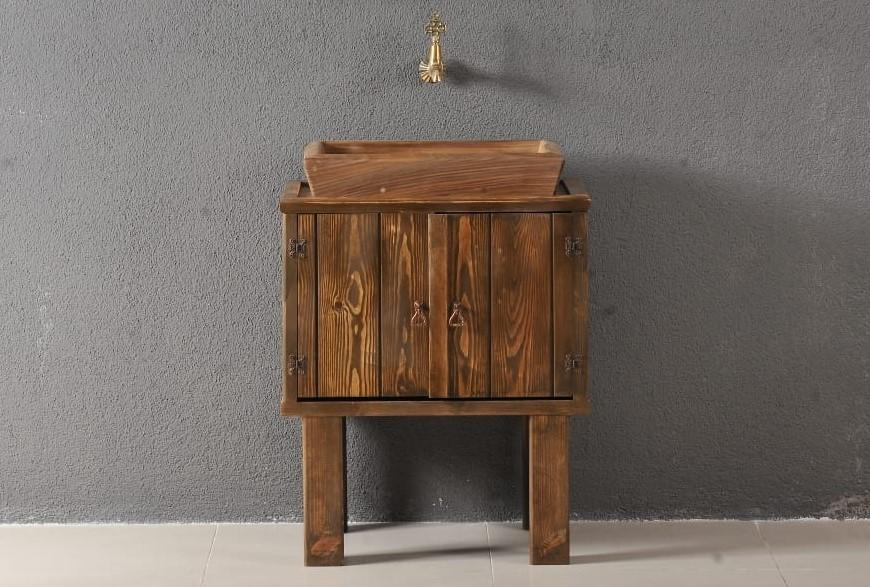Classic Bathroom Solid Wood Cabinet and Sink - Decorotika