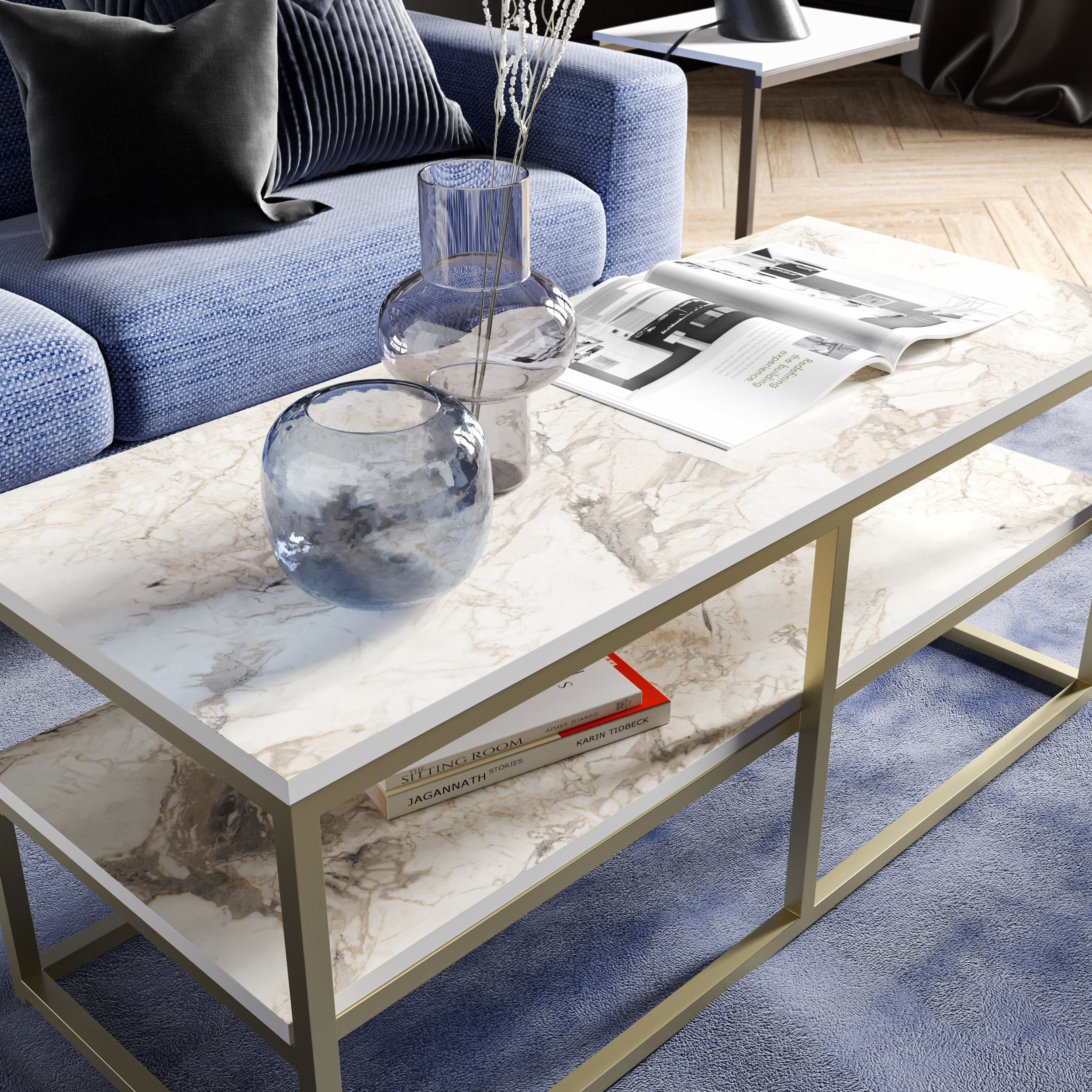 Forteaus Metal Wood Coffee Table - Decorotika