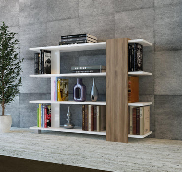 Vermont 35'' High Manufactured Wood Bookcase - Decorotika