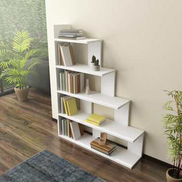 "Echo 47"" Tall Ladder Style Accent Bookcase - Decorotika"