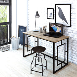 "Elzen 47"" Wide Metal Frame Computer Desk - Decorotika"