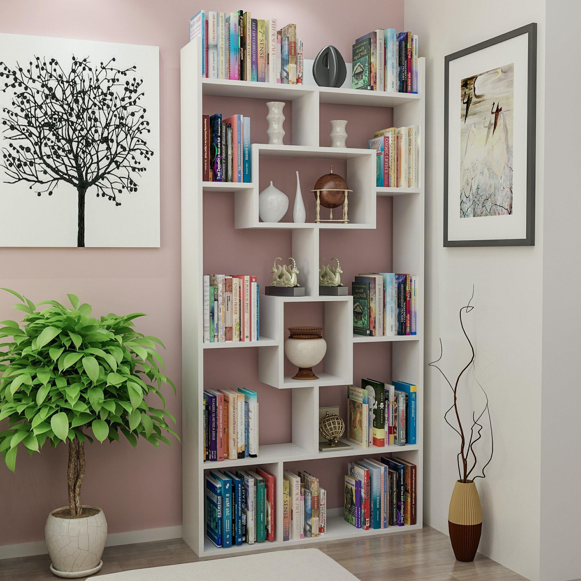 Kayra 71'' Modern Accent Cube Unit Bookcase - Decorotika