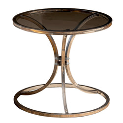 Corleone Metal & Tempered Glass Side End Table