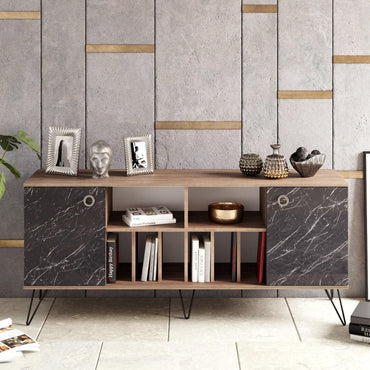 "Lorenz 71"" Wide Metal Wood Sideboard - Decorotika"