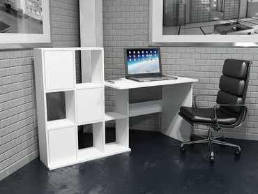 Lorin 64'' Wide Computer Desk with Cabinets & Open Shelves - Decorotika