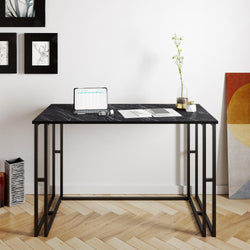 "Alfa 47"" Wide Metal Wood Computer Desk - Decorotika"