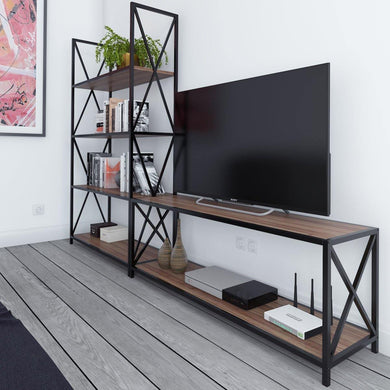 Xena Metal Wood Entertainment Center for TVs up to 55