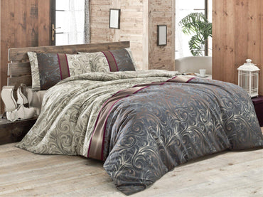 Hurrem Multi-Colored 3 Piece Duvet Cover Quilt Bedding Set with Pillowcases - Queen and King Sizes - Decorotika