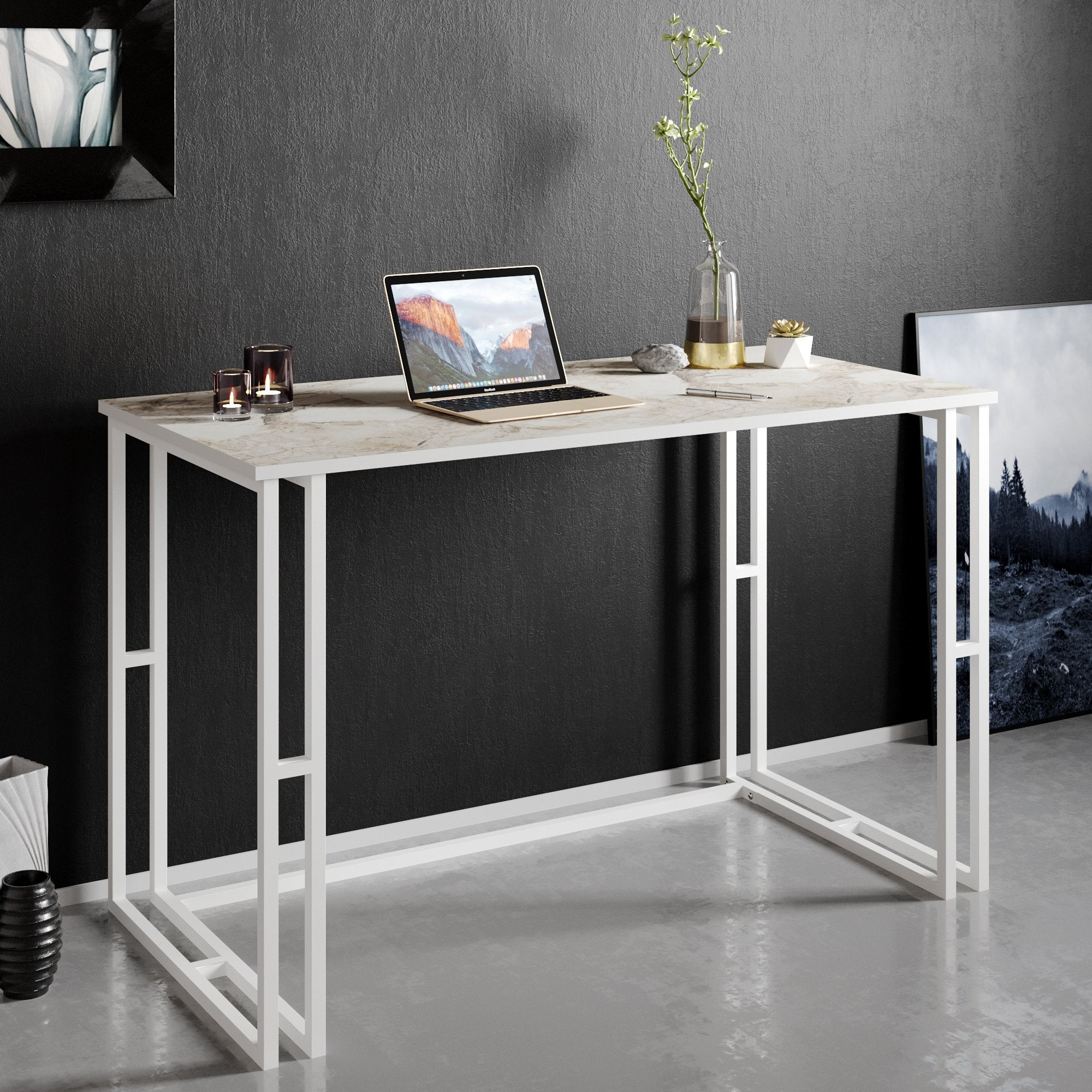 Alfa Metal Wood Computer Desk - Decorotika