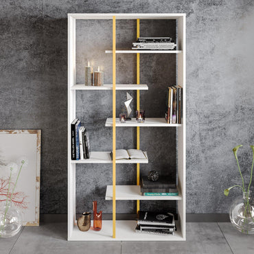 "Presto 68"" Tall Metal Wood Bookcase - Decorotika"