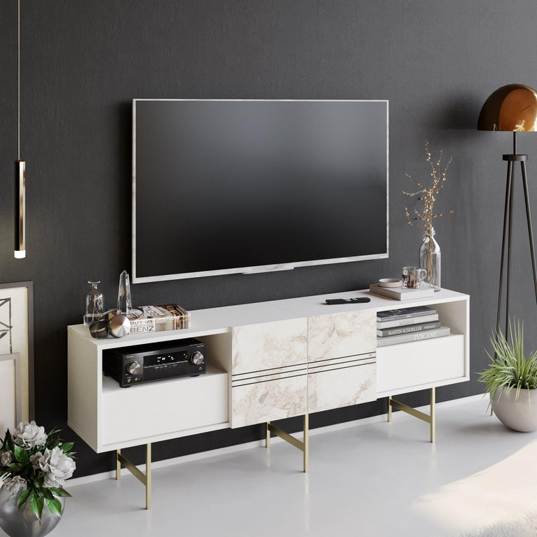 "Derin 71"" Media Console and TV Stand - Decorotika"