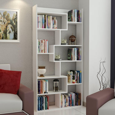 Dream 71'' Modern Geometric Bookcase - Decorotika