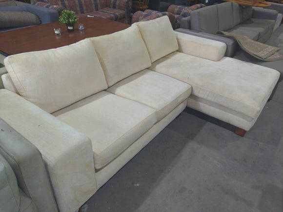 Cream 3-Seater L-Shaped Lounge