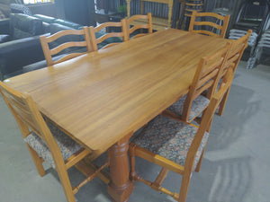 9-Piece Hardwood Dining Table