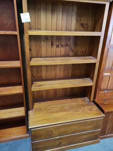 Florence 2 Drawer Combination bookcase