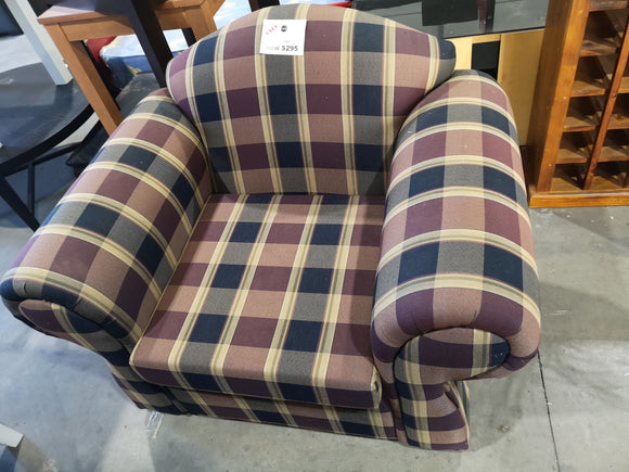 Club chair tartan