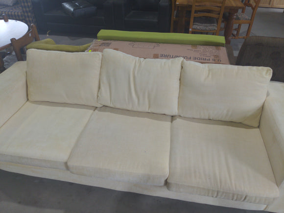 3-Seater Cream Fabric Lounge