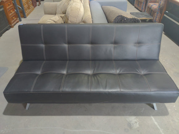 Black Pleather Futon