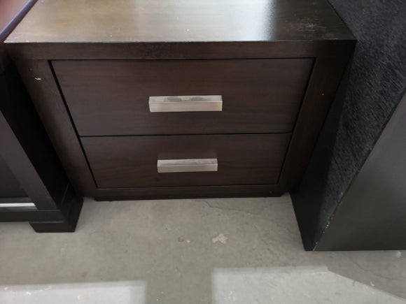 Dark brown bedside tables