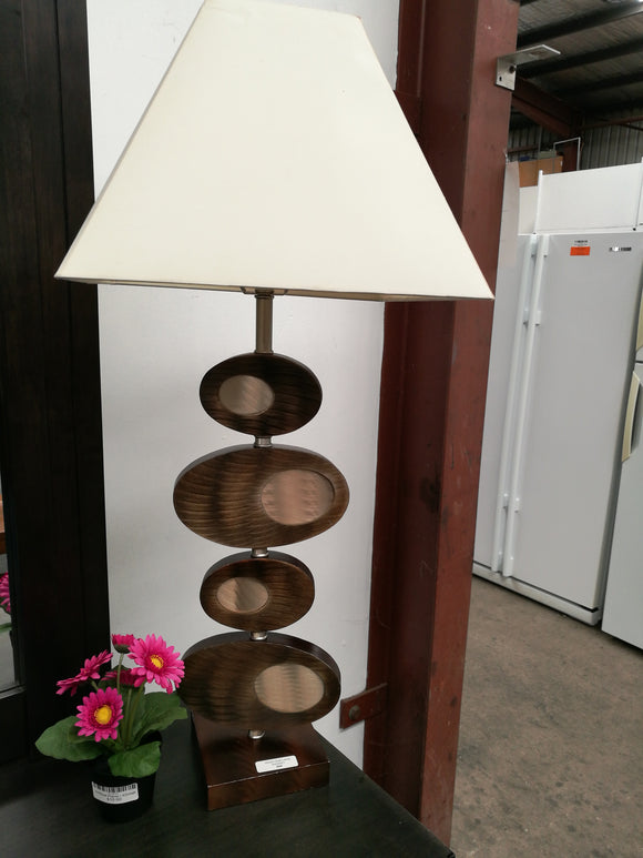 Wood Oval Lamp
