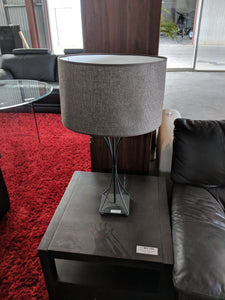 Metal Table Lamp with Black Shade