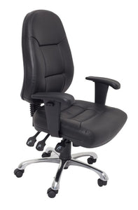 (rapidline) High Back PU Leather Commercial Grade Chair