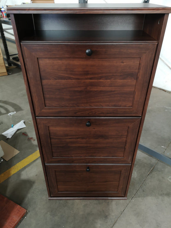 3 compartment shoe cabinet