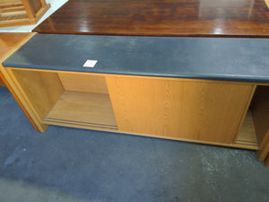 Credenza with leathertop