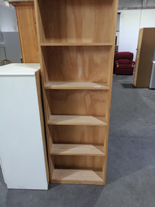 Narrow Pine bookcase