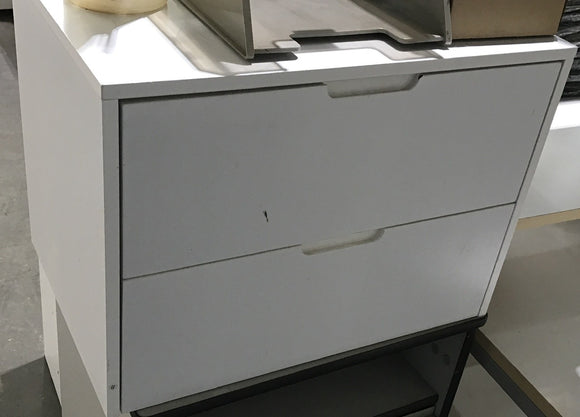 White 2 Drawer