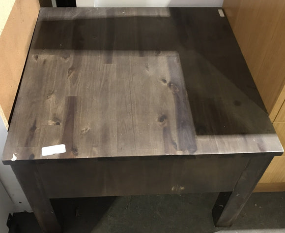 Brown Square Coffee Table