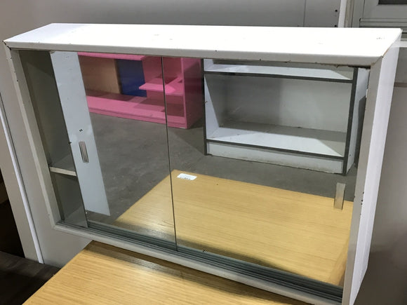 Metal Cabinet with Mirror Sliding Doors