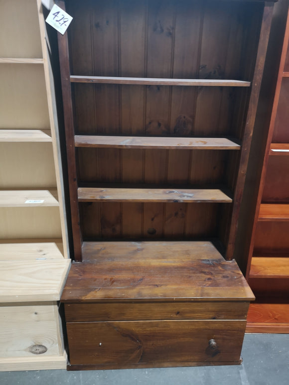 Bookcase with one drawer