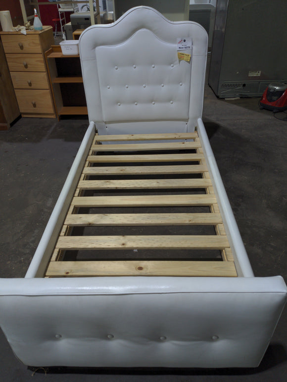 White single princess bed frame