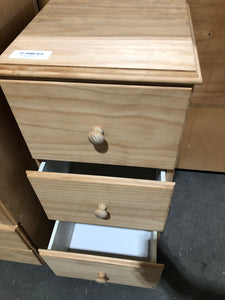 Raw pine chest of drawers
